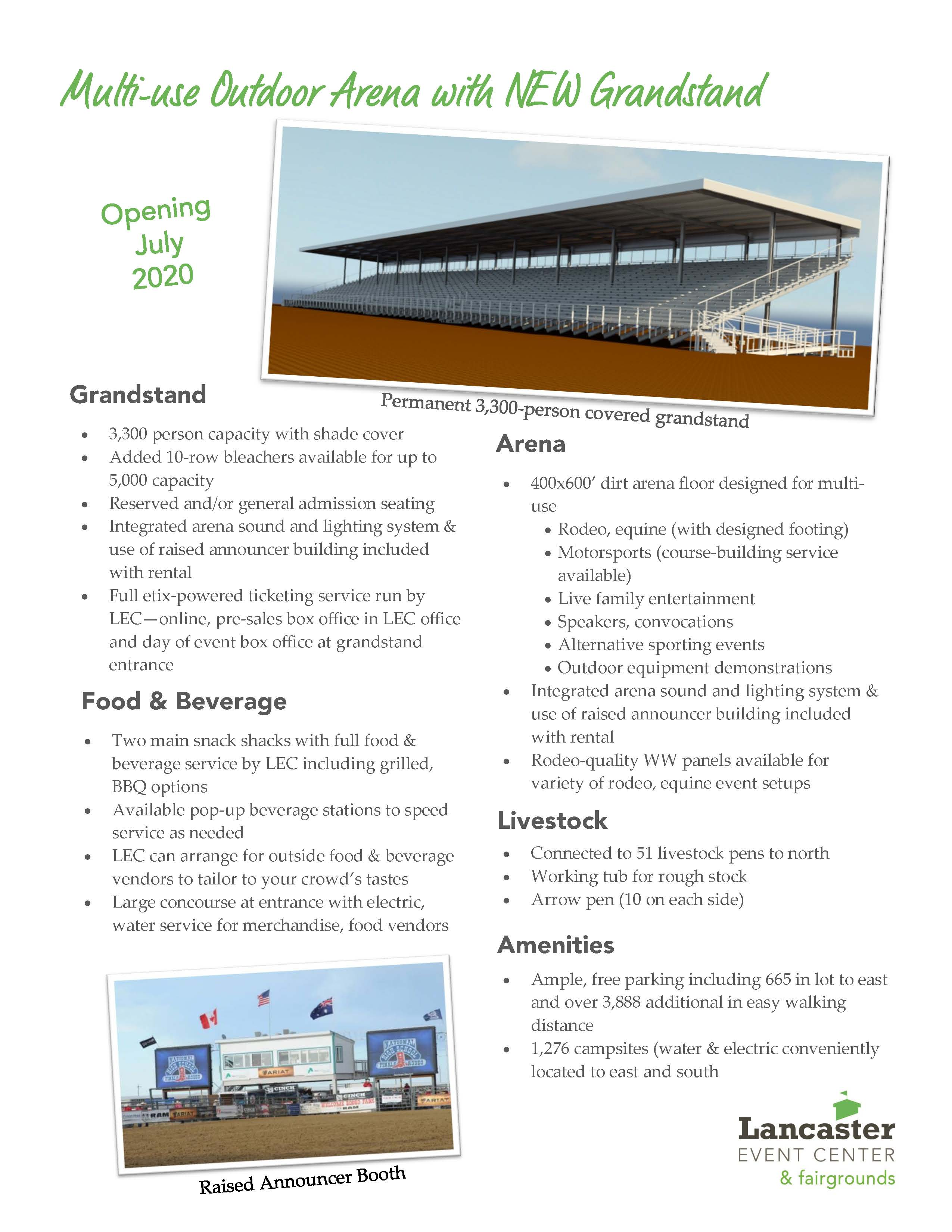 Grandstand Page from Where Your Event Belongs Single Page Insert ts 112119